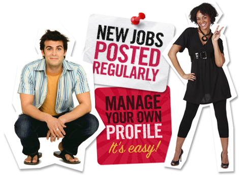 New jobs posted regularly. Manage your own profile. It's easy!